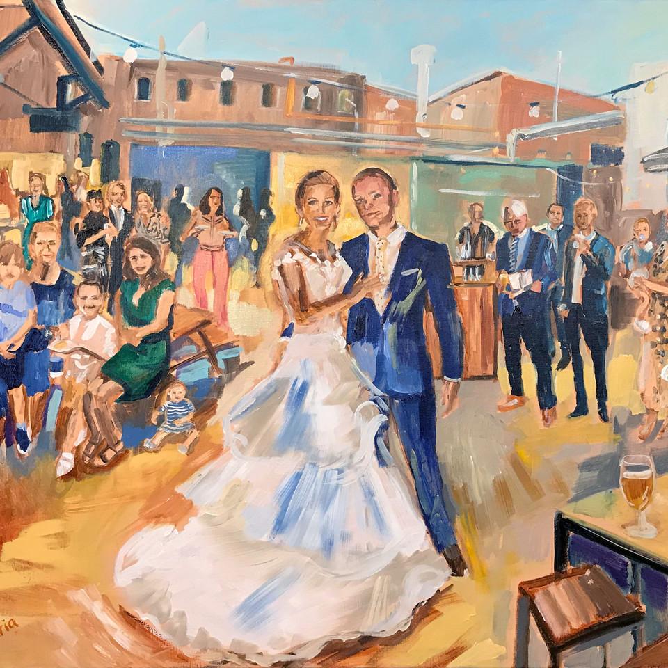 Persoonlijke kunst ART Eva Maria Live Paint
