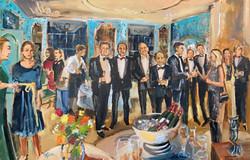 Live Paint Eva Maria bedrijfsborrel Baambrugge