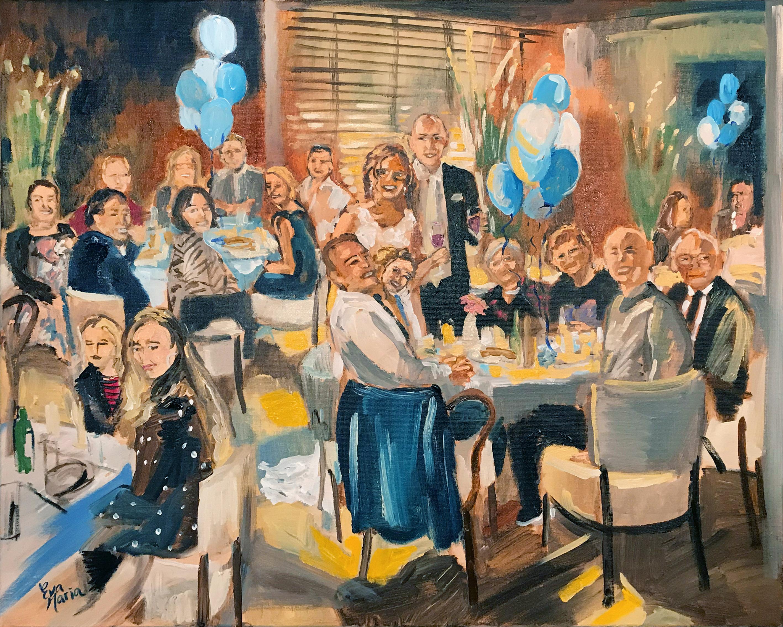 Live Paint Eva Maria huwelijksgeschenk diner 's-Gravenzande