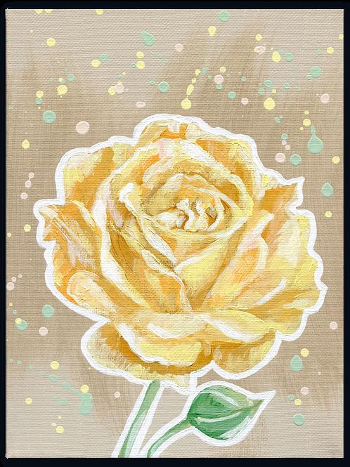 Schilderij Roos geel | ArtaFlora | PRETTY PASTEL collectie