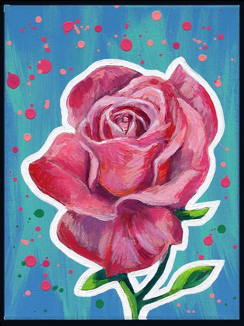 Schilderij Roos roze | ArtaFlora | FLOWER POWER collectie