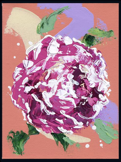 Schilderij - van - een - Pioenroos - bloemkado