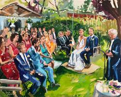 Live Paint Eva Maria huwelijksceremonie Lunteren