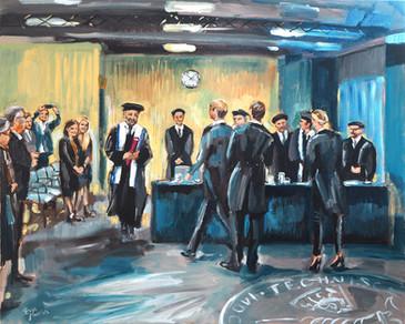 Business ART Eva Maria, schilderij gemaakt op TU Delft