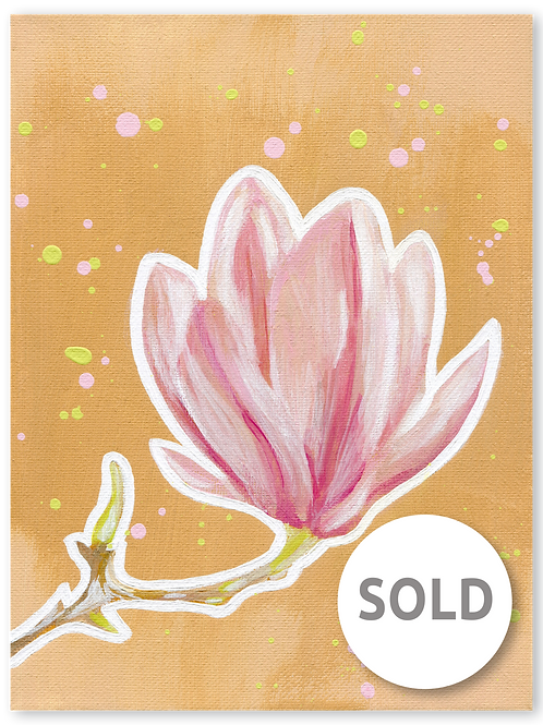 Schilderij Magnolia   ArtaFlora   PRETTY PASTEL collectie SOLD