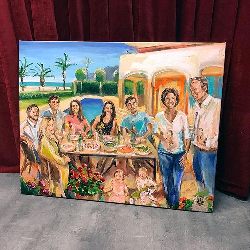 Schilderij van foto's Love en Life paint