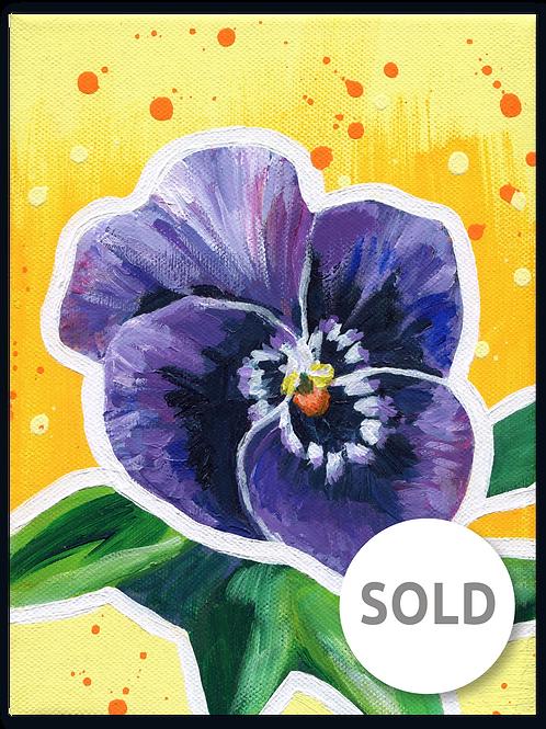 Schilderij Viooltje | ArtaFlora | FLOWER POWER collectie SOLD