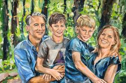 Familieportret gezinsportret