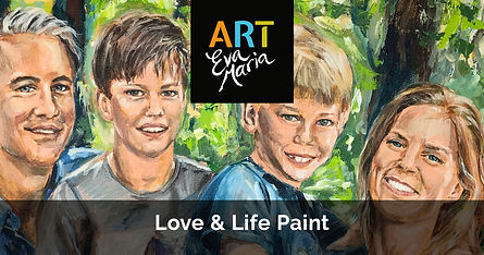 ART Eva Maria Love en Life Paint schilderij familie portret