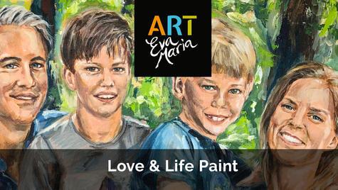 Levenskunst | Mooie herinneringen met familie en vrienden op doek