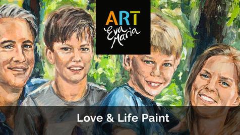 Levenskunst   Mooie herinneringen met familie en vrienden op doek