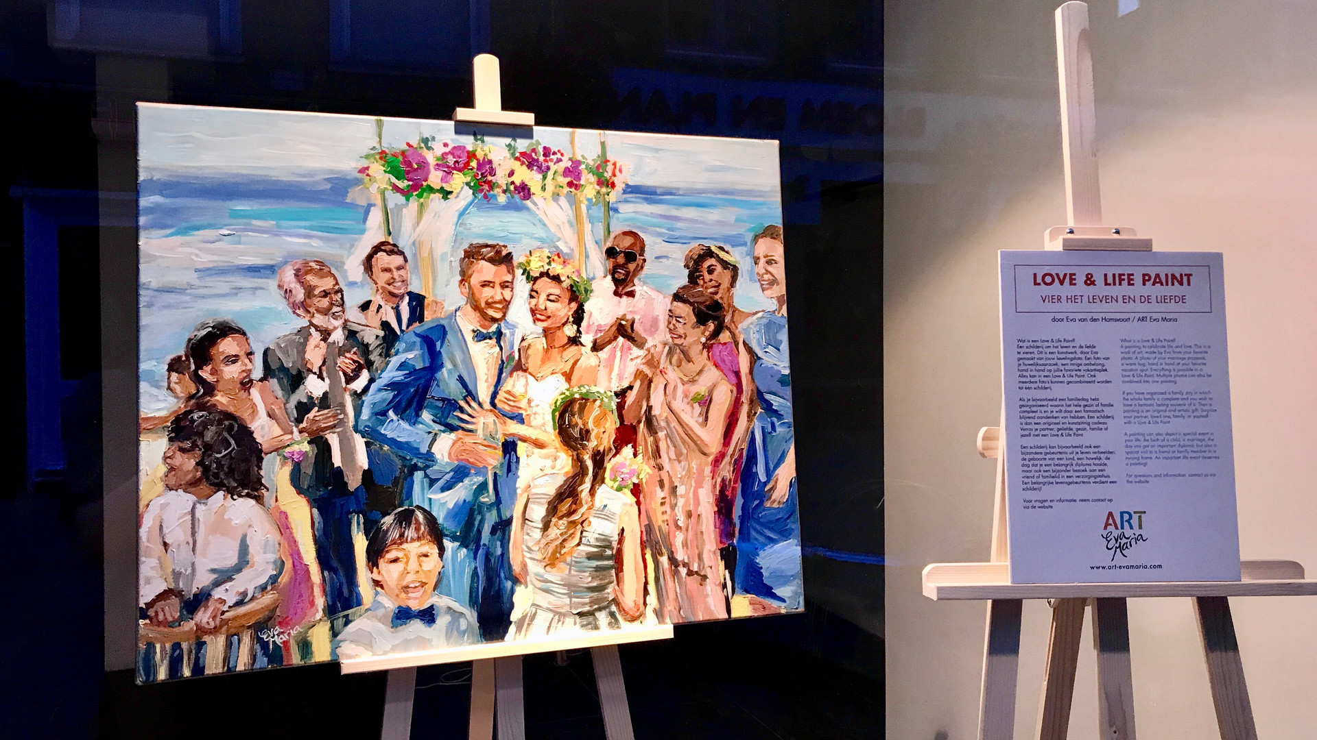 Etalage Expo Love & Life Paint