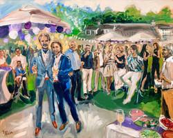 Live Paint Eva Maria feestschilderij bruiloft Zeeland
