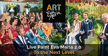 Schilderij bruiloft Live Paint Eva Maria