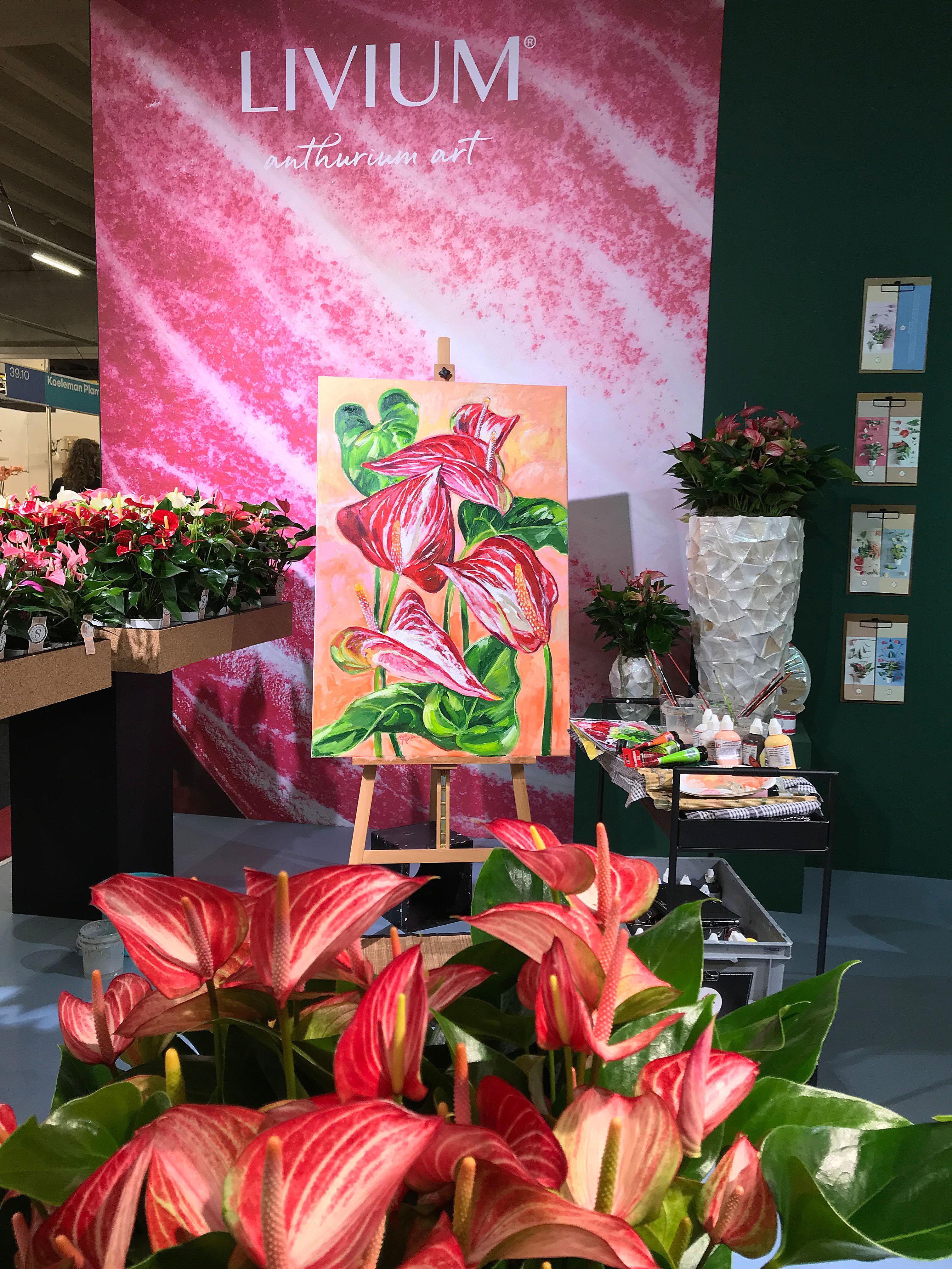 Live Paint Eva Maria beurs product lancering Aalsmeer