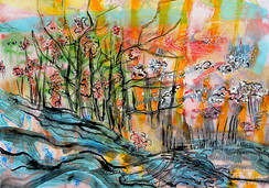 Intense landscape, SOLD Eva van den Hamsvoort