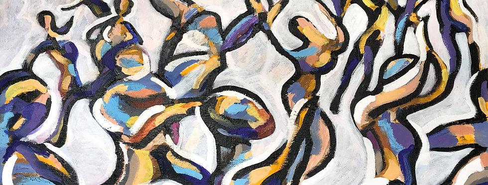 Schilderij Dance Mix door Eva van den Hamsvoort