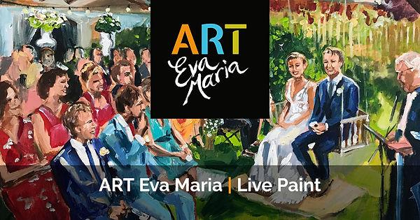 ART Eva Maria Live Paint kunstwerk trouwen