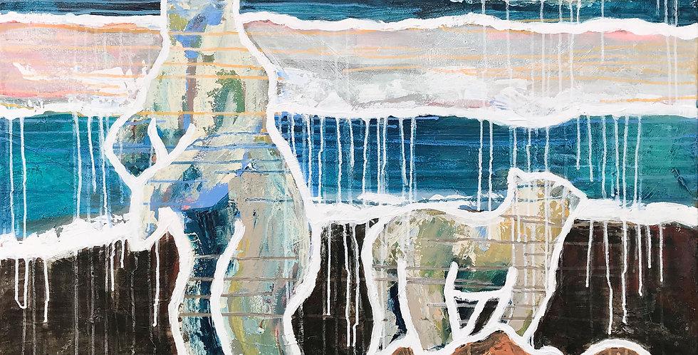 Schilderij Believe the Polar Bears door Eva van den Hamsvoort