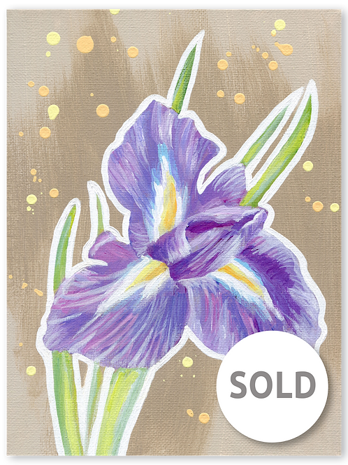 Schilderij Iris | ArtaFlora | PRETTY PASTEL collectie SOLD