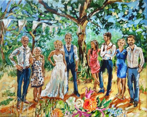 Trouwschilderi   Schilderij van bruiloft