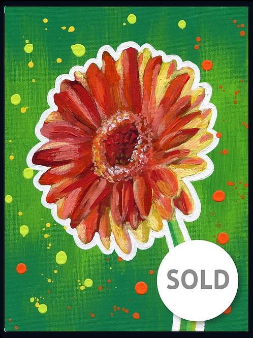Schilderij Gerbera rood | ArtaFlora | FLOWER POWER collectie
