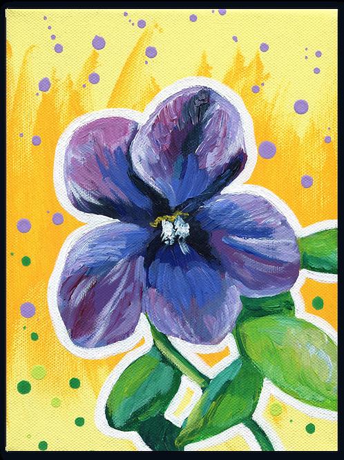 Schilderij Viooltje | ArtaFlora | FLOWER POWER collectie