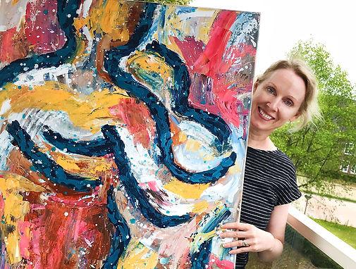 Portret Eva van den Hamsvoort met schild