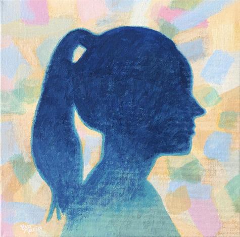 Duurzame kunst in opdracht: Silhouet Portret