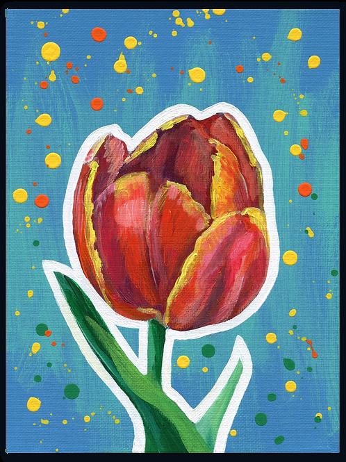Schilderij Tulp rood | ArtaFlora | FLOWER POWER collectie