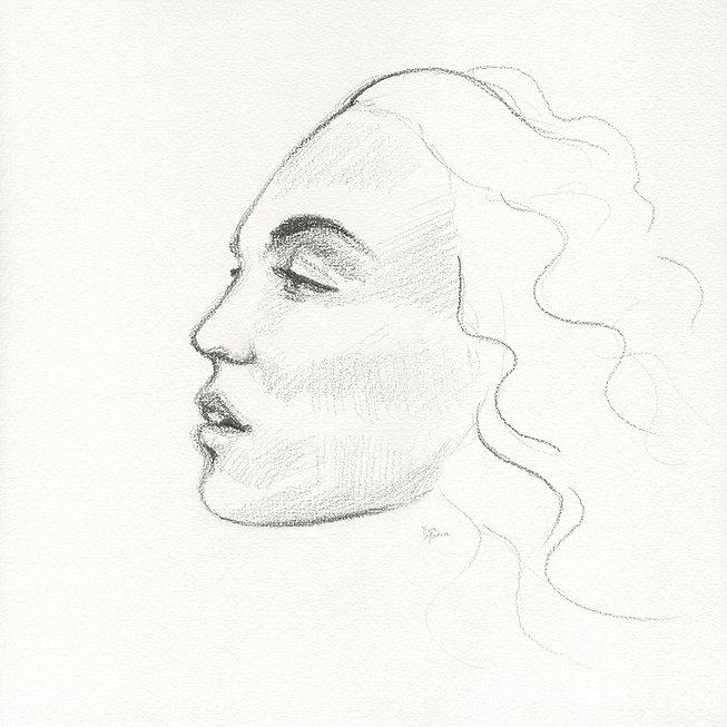 Herdenkingskunst portret ter nagedachtenis aan een overledene