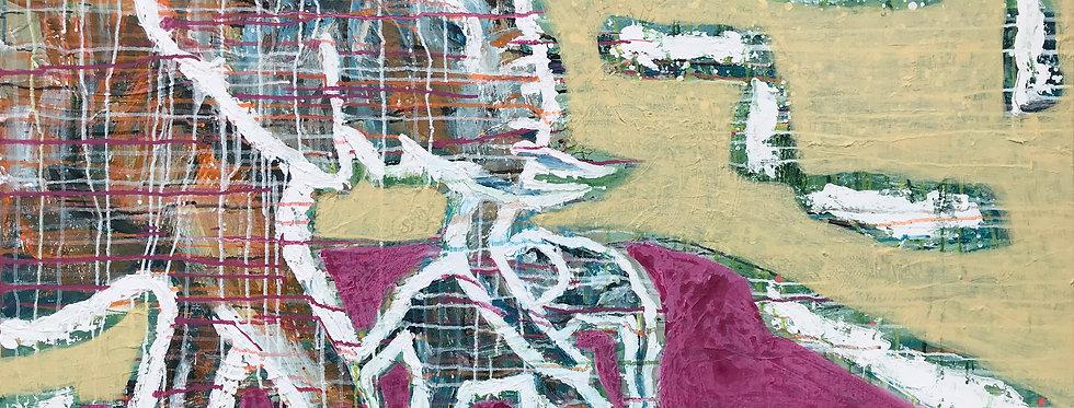 Schilderij Embrace the Elephant door Eva van den Hamsvoort