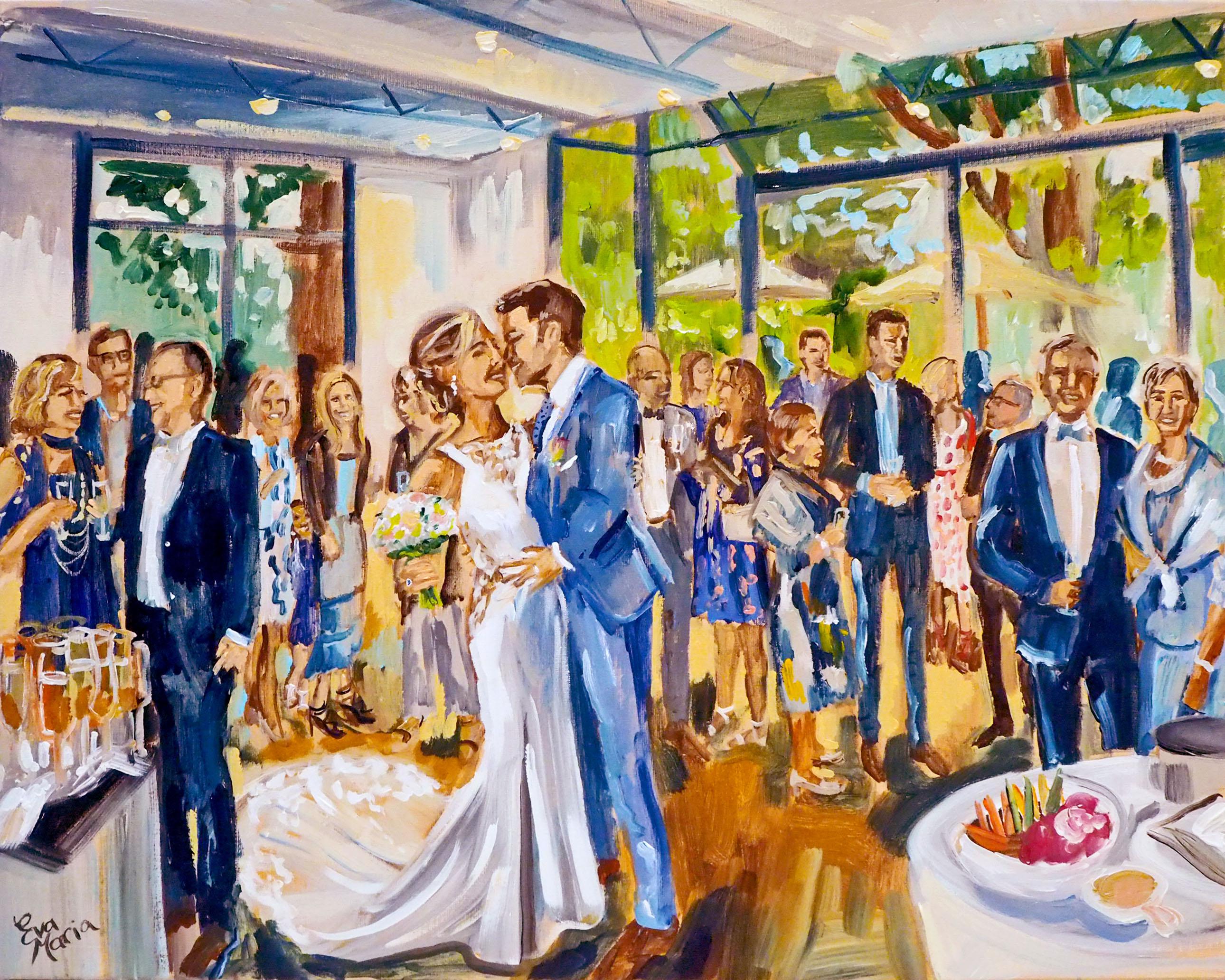 Live Paint Eva Maria Diest, België