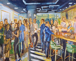Live Paint Eva Maria Opening restaurant Den Haag