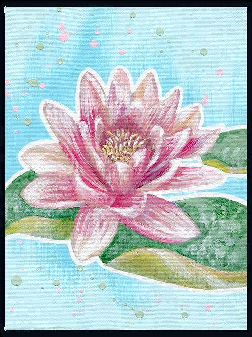 Schilderij Waterlelie rose | ArtaFlora | PRETTY PASTEL collectie