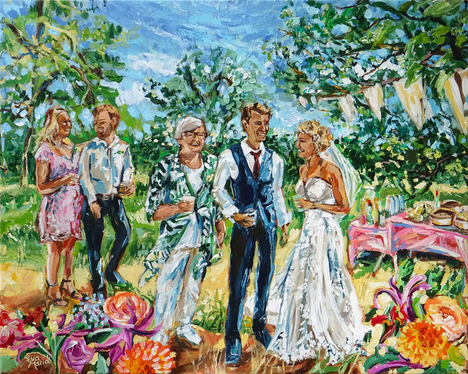 Trouwschilderij / Wedding painting
