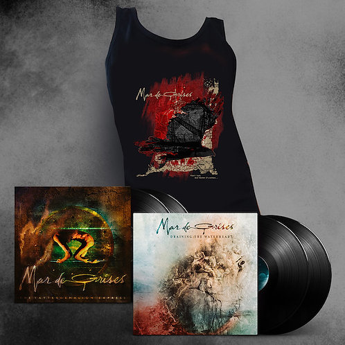 MAR DE GRISES - Vinyl Bundle (Black)+ Tank Top