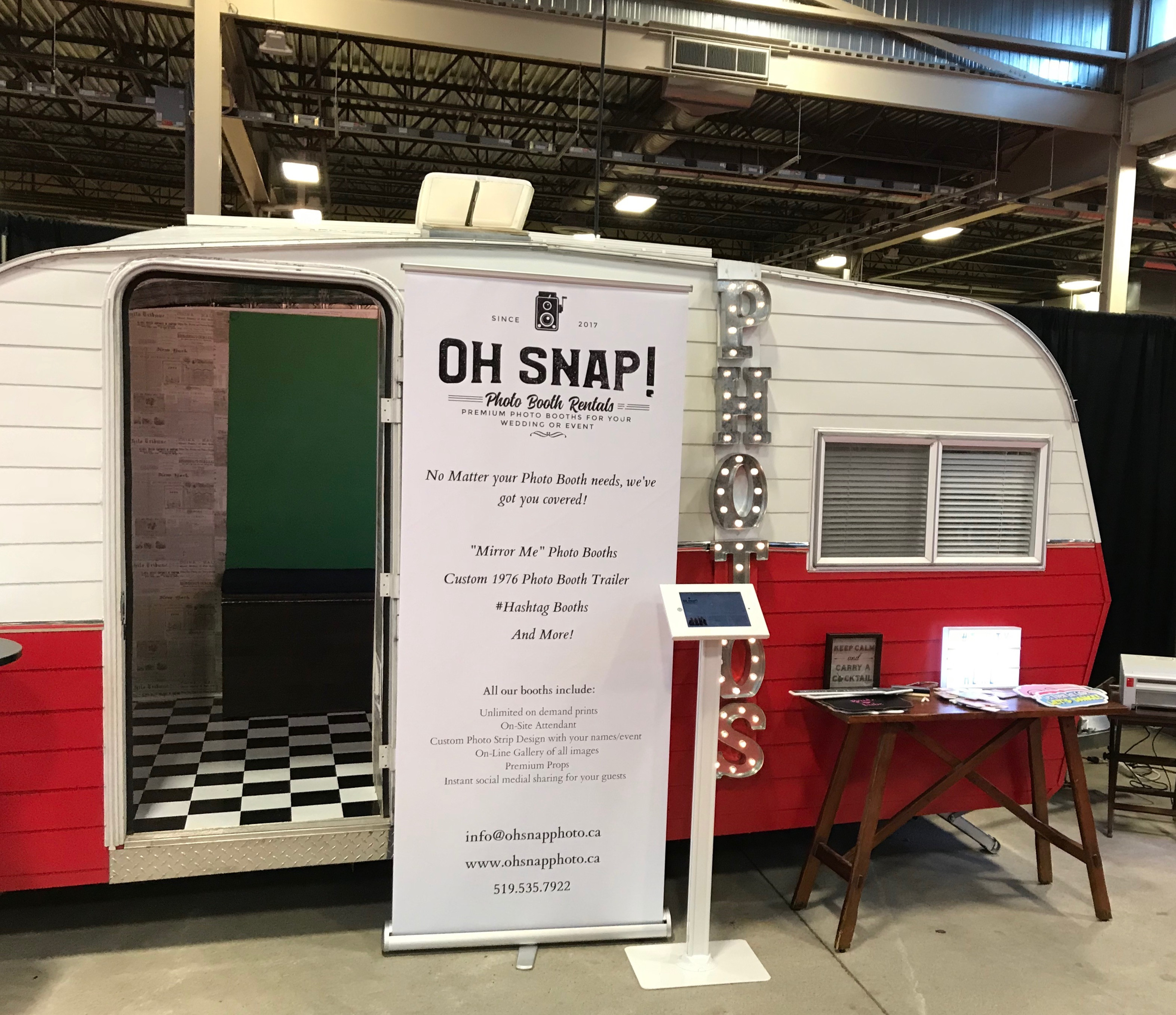 3 hour Photo Booth Trailer rental