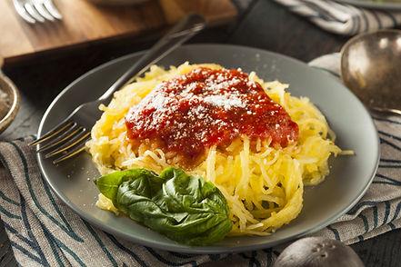 Homemade Cooked Spaghetti Squash Pasta w