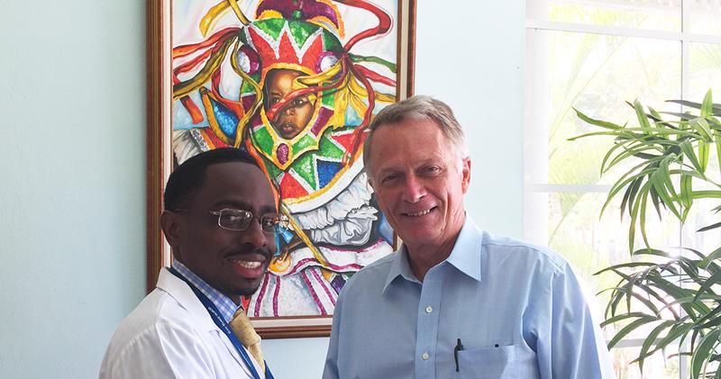 Dr. Flloyd Carter and Gary Larson