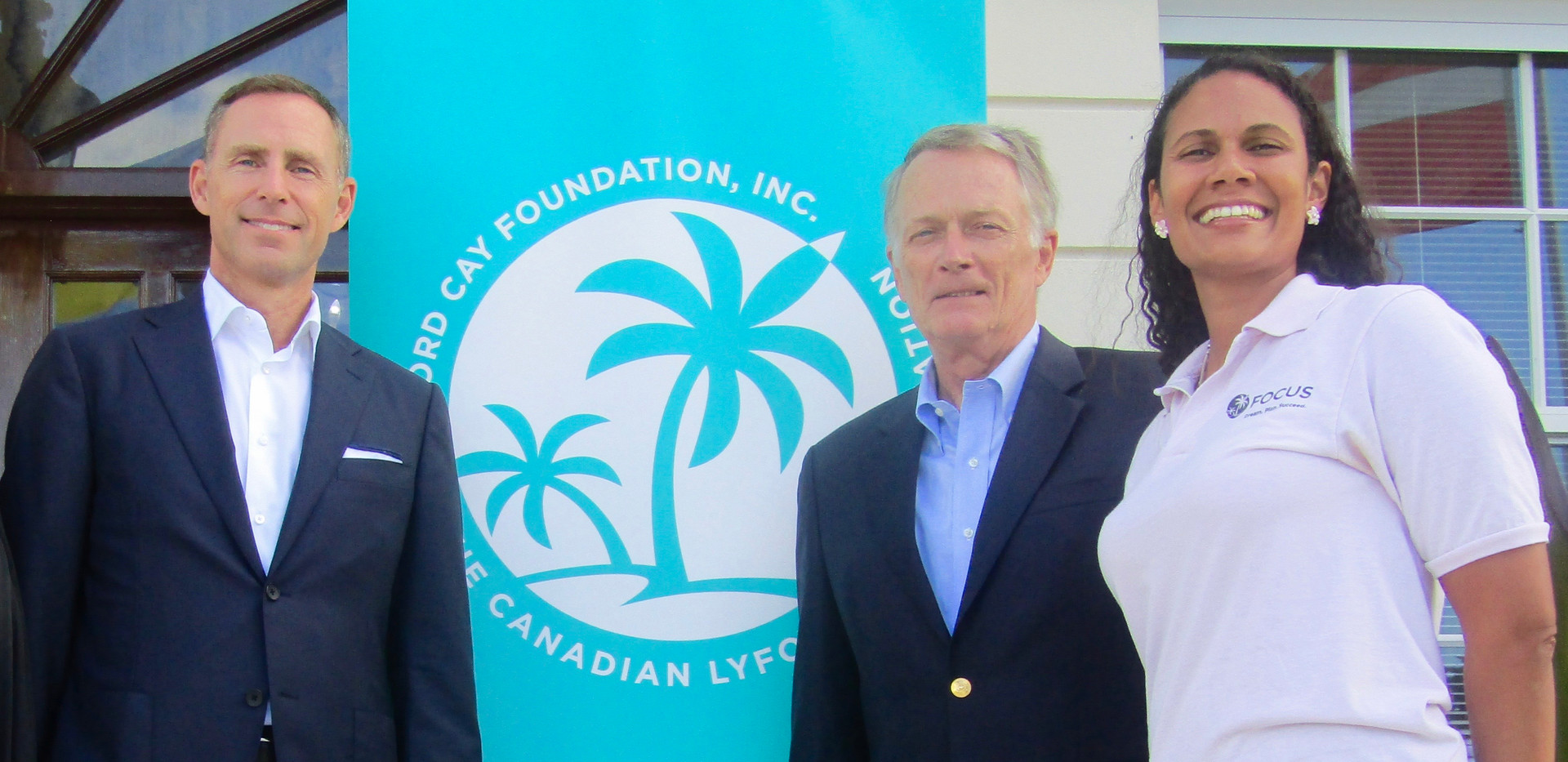 Cheque presentation to FOCUS (a program of Lyford Cay Foundation)