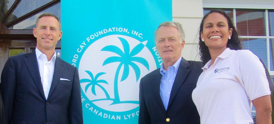 Cheque presentation to FOCUS (a program of Lyford Cay Foundation)