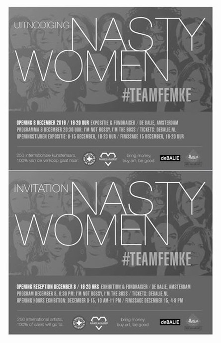 My work got selected for the NASTY WOMEN #TEAMFEMKE Exhibition @debalie