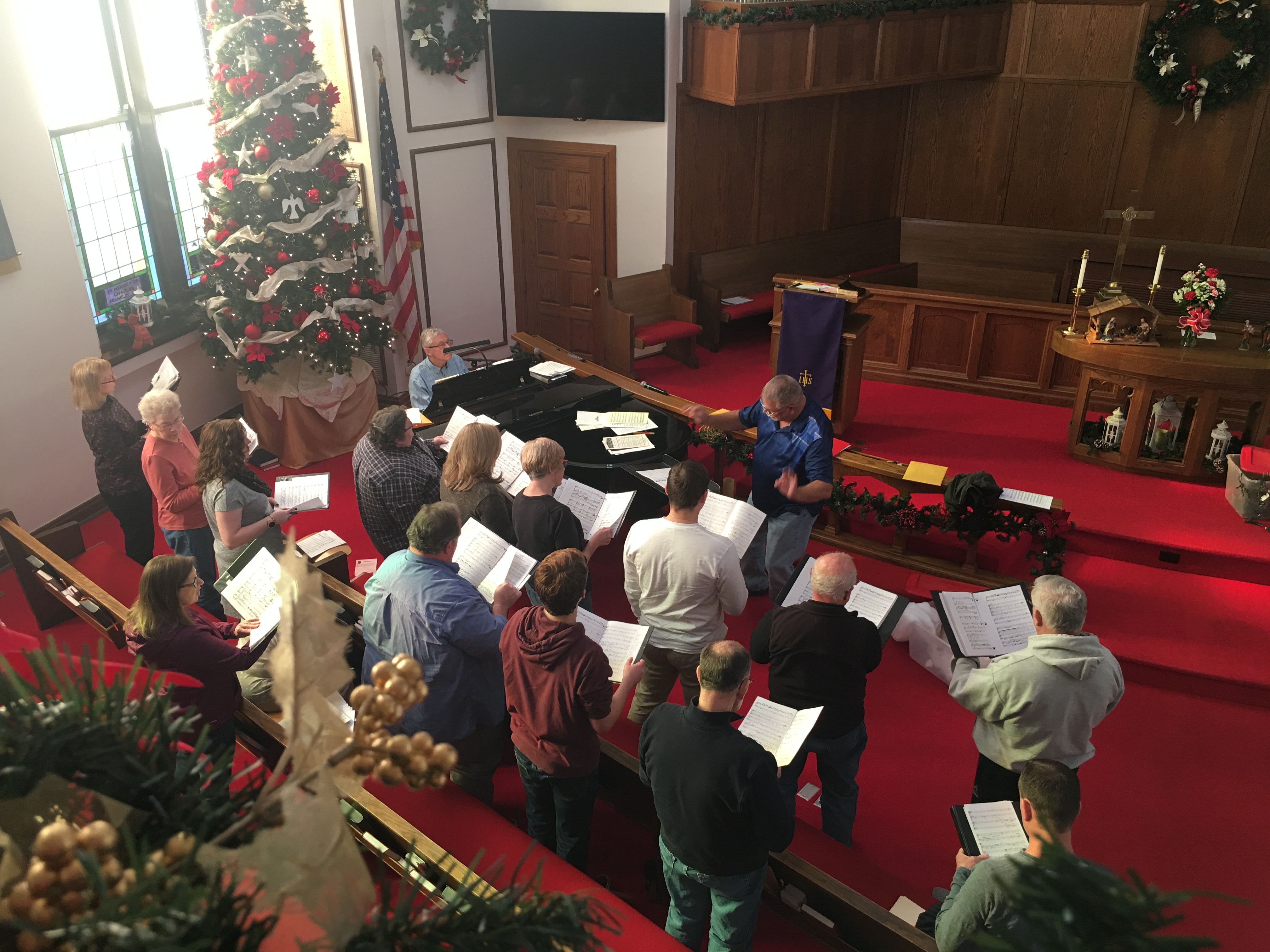 Christmas Choir Rehearsal