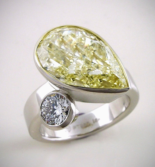 Yellow Diamond 'Explosion' Ring
