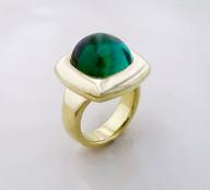 Tourmaline 'Cushion' Cabochon Ring