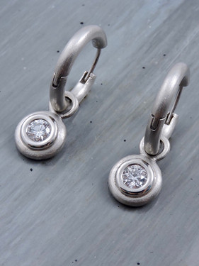 Diamond Charms with 'Solid Hoop' Earrings