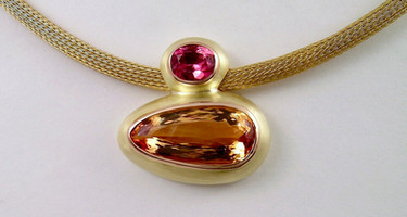 Imperial Topaz & Pink Sapphire Pendant