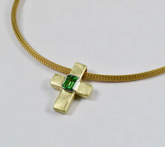 Tsavorite 'Cross' Pendant