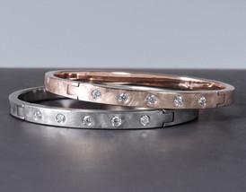 'Slim Tension' Bracelet with Diamonds